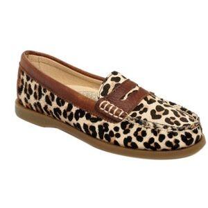 Sperry Hayden leopard print penny loafer shoes